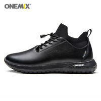 ONEMIX Men's Casual Shoes 3 in 1 Set of Top waterproof leather walking Shoes