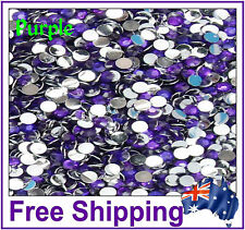 Rhinestones Resin Flat Back 4mm ~ Purple ~ 500 Pack By Gypsy Bling ~ Free Post