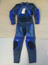 "Figo Mens Two Piece Race Leather Motorbike Suit Size UK 34""Chest 28"" Waist (#A)"