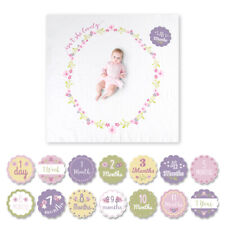 LULUJO Baby's First Year Milestone Blanket & Card Set *Isn't She Lovely?*