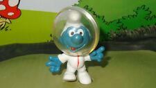 Smurfs Astro Smurf RED ZIPPER Variation 20003 Vintage Very Rare Astronaut Figure