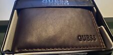 GUESS By Marciano Men's $42. Fresno Brown BillFold ID Credit Card Wallet Low$$