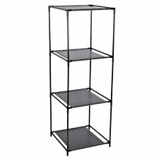 Steck-Regal schwarz Standregal Raumtrenner Raumteiler Bücherregal Aktenrega