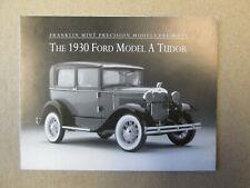 Franklin Mint Paperwork 1930 Ford Model A Tudor