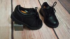 *EUC* Timberland Shoes Baby Boys Sz. 05 Genuine Leather Casual Black Lace Up