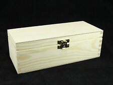 PLAIN Legno Scatola Rettangolare Portagioie Storage DECOUPAGE 22 x 9,5 x 7,5 cm