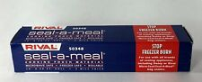 "Rival Seal-A-Meal 50348 Cooking Pouch Material 10"" x 20"" New Old Stock"