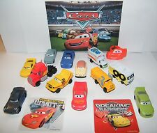 Disney Cars Movie Figure Set of 14 with Cars Ring, Sticker with New Characters