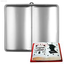 Giant Book Shape Cake Pan Fondant Biscuit Cookies Baking Tray Cupcake Mould