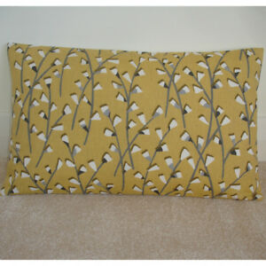 "20""x12"" Oblong Bolster Cushion Cover Mustard Yellow Ochre Saffron Grey 12x20"