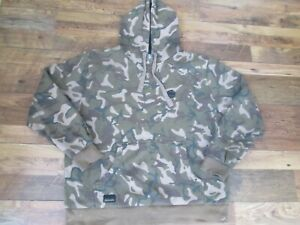 FISHING CLOTHES FOX CHUNK BANKSIDE APPAREL CAMO LIMITED EDITION HOODIE SIZE L