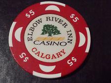New ListingElbow River Inn Casino $5 casino gaming poker chip ~ Calgary, Alberta Canada