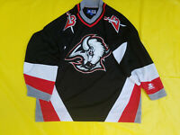 Buffalo Sabres Jersey Mens XL retro Starter Black goat head extra large NHL