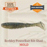 PowerBait Rib Shad Fishing Mold Swimbait Lure Bait Soft Plastic 61-96 mm