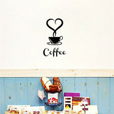Removable DIY Coffee Cup Decals Vinyl Wall Sticker Kitchen Home Decor Art