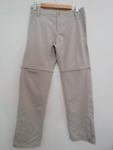 Mountain Designs Womens Size 10 Tellus Convertible Pants. Beige Hiking Pants.