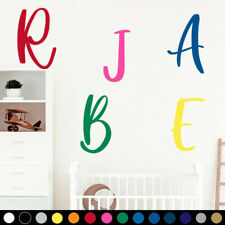 Single Letter Custom Personalized Name Monogram Wall Decal Child Toddler Room v8