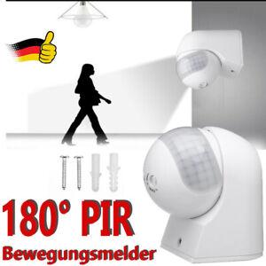 Bewegungsmelder Bewegungs Melder Außen Aufputz Wand Infrarot Sensoren 180° LED