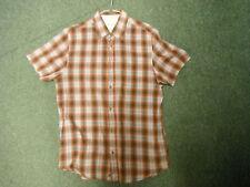 Wolsey Medium Mens Checked Casual Short Sleeve Dress Shirt