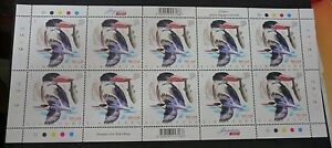 Singapore Kingfishers Black-Capped 1st local stamp sheet 2017