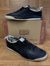 RARE🔥 Asics Onitsuka Tiger Mexico '66 Black Leather Retro Sneaker 9 Brogue Toe