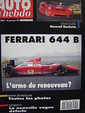 auto hebdo 1993 MASERATI BARCHETTA / MONTE CARLO + PARIS DAKAR / THERIER / MADER