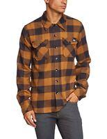 Dickies Sacramento Mens Streetwear Shirt Brown Brown Duck SizeL