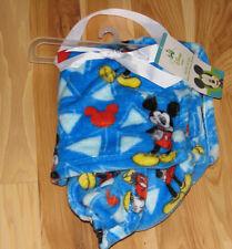 DISNEY MICKEY MOUSE BABY BOY BLUE SUPER SOFT FLEECE BLANKET TRIANGLE PLUSH NEW