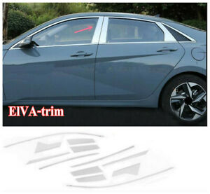 12PCS For 2021 Hyundai Elantra Chrome Window Visor Vent Shades Sun Rain Guard