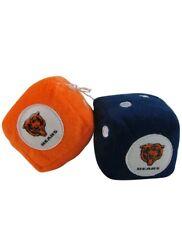 NFL Chicago Bears Plush Fuzzy Dice Auto Accessories