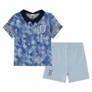 Kids Infants England Blue Away Official Retro Kit Euro 2020 Baby Kit
