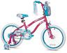 "GIRLS BIKE Kids Bicycle 18"" Wheels Pink Blue Steel Training Wheels Handlebar Bag"