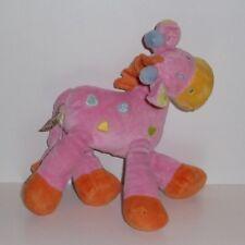 Doudou Girafe Mots d'enfants - Rose