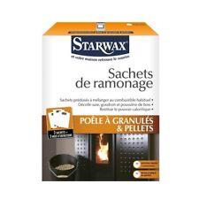 3 Sachets = 3 MOIS ENTRETIEN RAMONAGE SPECIAL POELE A GRANULES PELLETS STARWAX