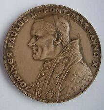 POPE JOHN PAUL II Visit to Wadowice POLISH POLAND MEDAL Prof. Gorol bronze