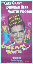 DREAM WIFE MOVIE POSTER Original Folded THREE SHEET Now On Linen 1953 CARY GRANT