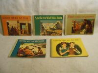Rare Vintage Christian / Jewish Child's Books 1948 People of Promise, Wall Built