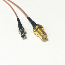 TS9 male straight to SMA female jack nut RF cable RG178 15cm for ZTE MF60 MF61