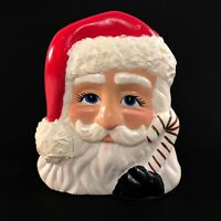 Vintage Hand Painted Ceramic Santa Claus Napkin Holder Christmas Table Decor