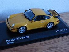 Original Porsche 911 964 965 Turbo Speedgelb Minichamps Modellauto 1:43