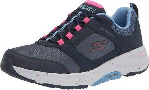 Skechers womens Go Walk Outdoor - River Path Sneaker, Navy/Pink, 8.5 US