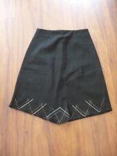 Jupe en laine ♥ POUR NOUS LES FILLES ♥ Taille 40 coupe trapèze noire Femme
