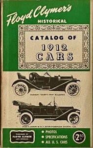 Floyd Clymer's Historical Catalog of 1912 Cars
