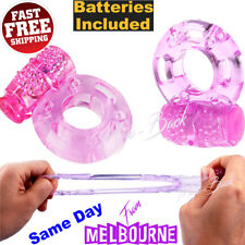 Vibrating COCK Ring Rabbit Vibrator Butterfly Massager Sex Toy Couple Penis Clit