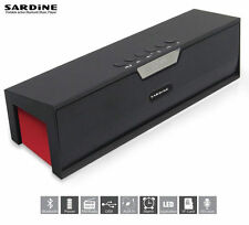 SARDINE SDY-019 10W Powerful Wireless Bluetooth Stereo Speaker Black & Red Loud