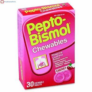 Pepto Bismol Cherry 30 Chewable Tablets 30 CT