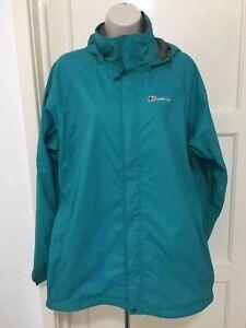 Berghaus Ladies AQ2 Turquoise Waterproof Hoody Jacket Size 18 VGC