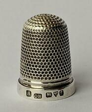 FINE CHARLES HORNER ANTIQUE STERLING SILVER THIMBLE 1911 SIZE 6