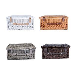 White Honey Grey Brown Empty Wicker Picnic Gift Hampers Shop Retail Display Box