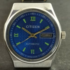 VINTAGE CITIZEN AUTOMATIC 8200A JAPAN MENS DAY/DATE WATCH 349-a232775-2